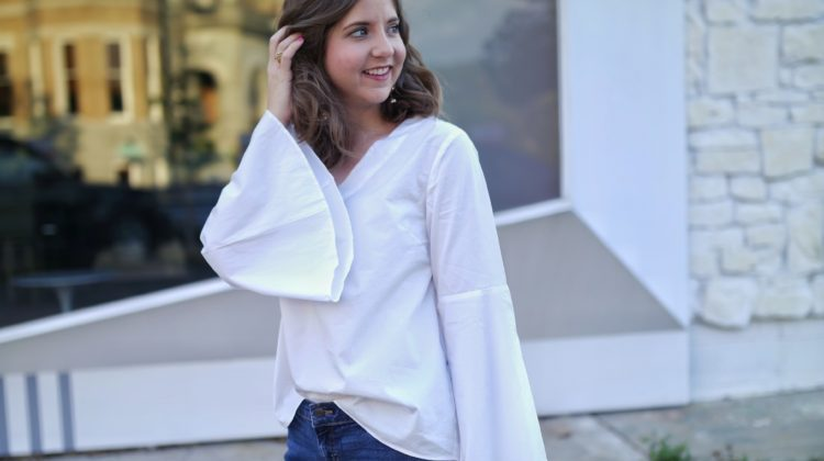 Bell Sleeves and Boyfriend Jeans with Hello Luvvy