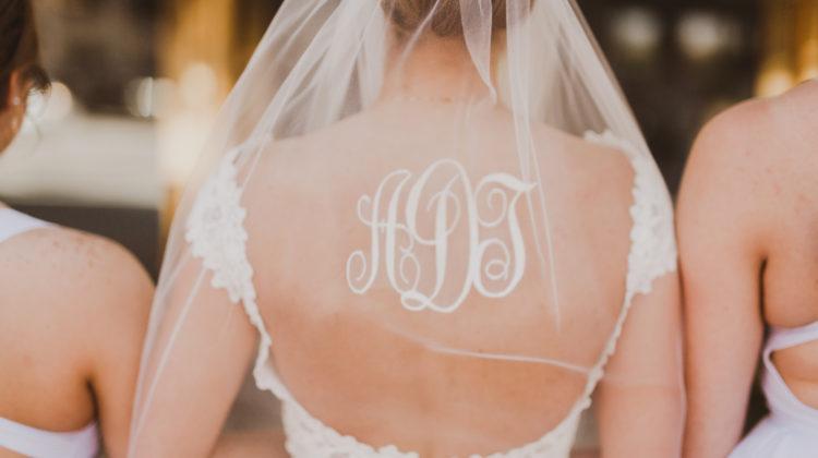 Monogram Wedding Veil