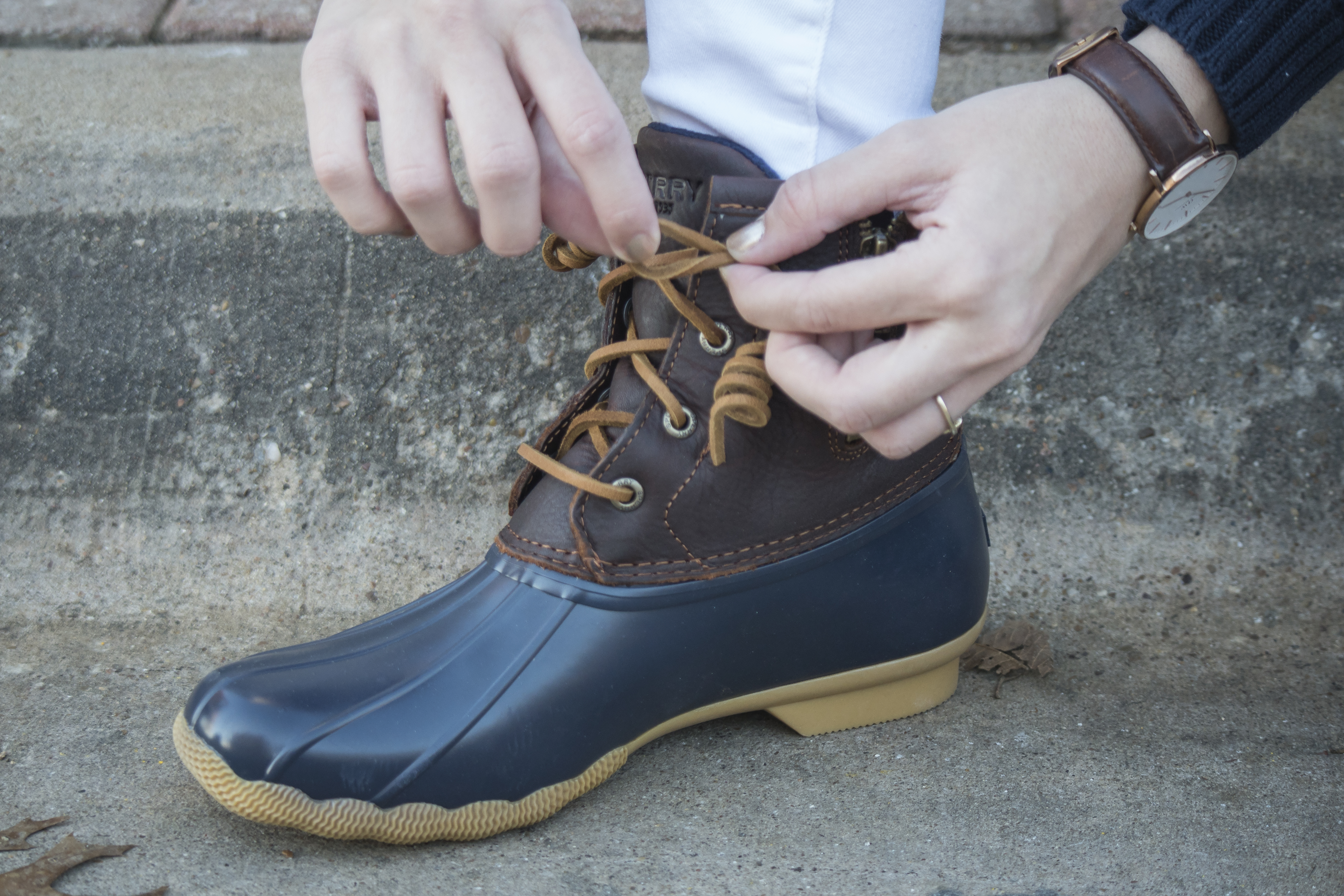 How To Tie Duck Boots Step by Step