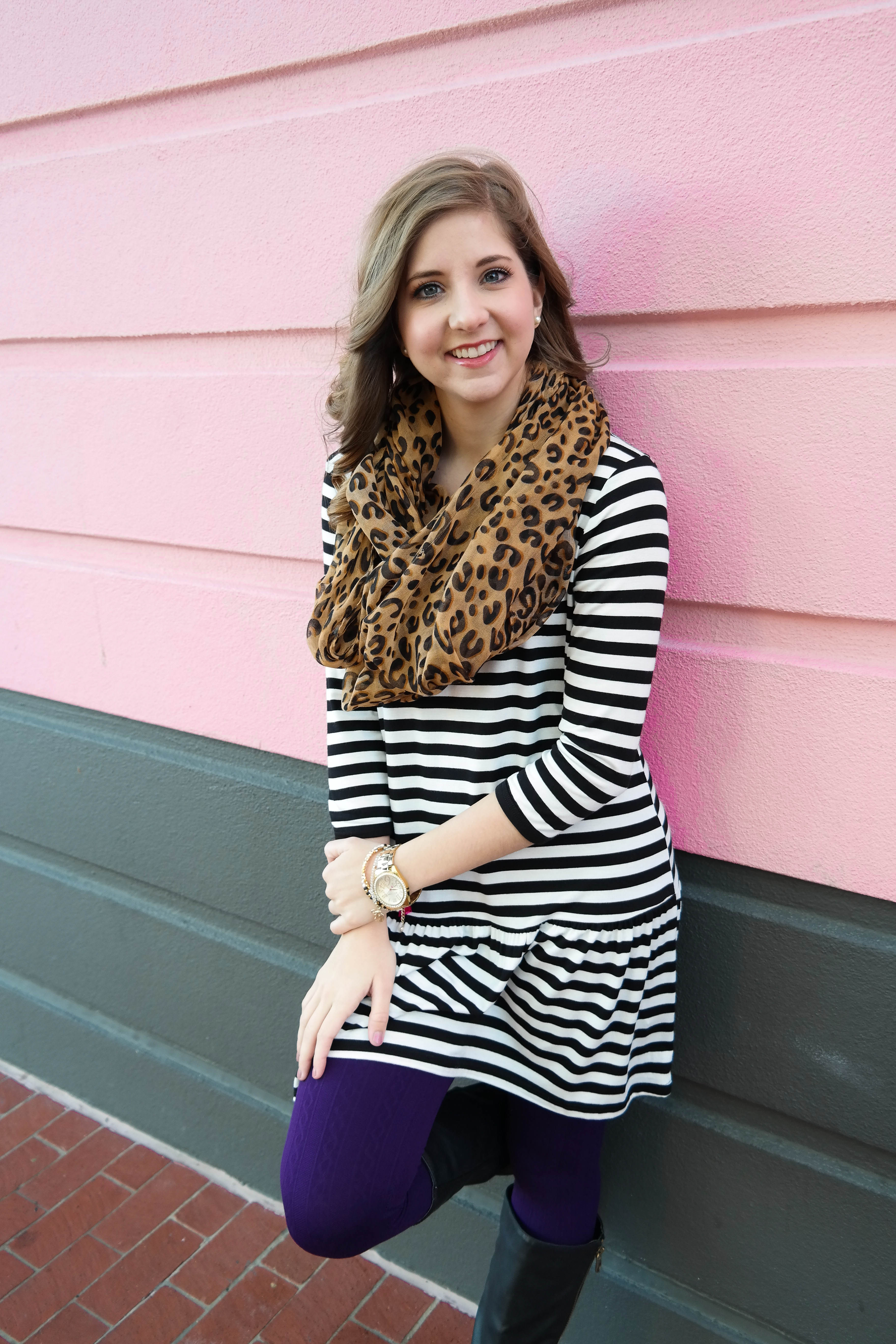 How To Mix Cheetah Print and Stripes