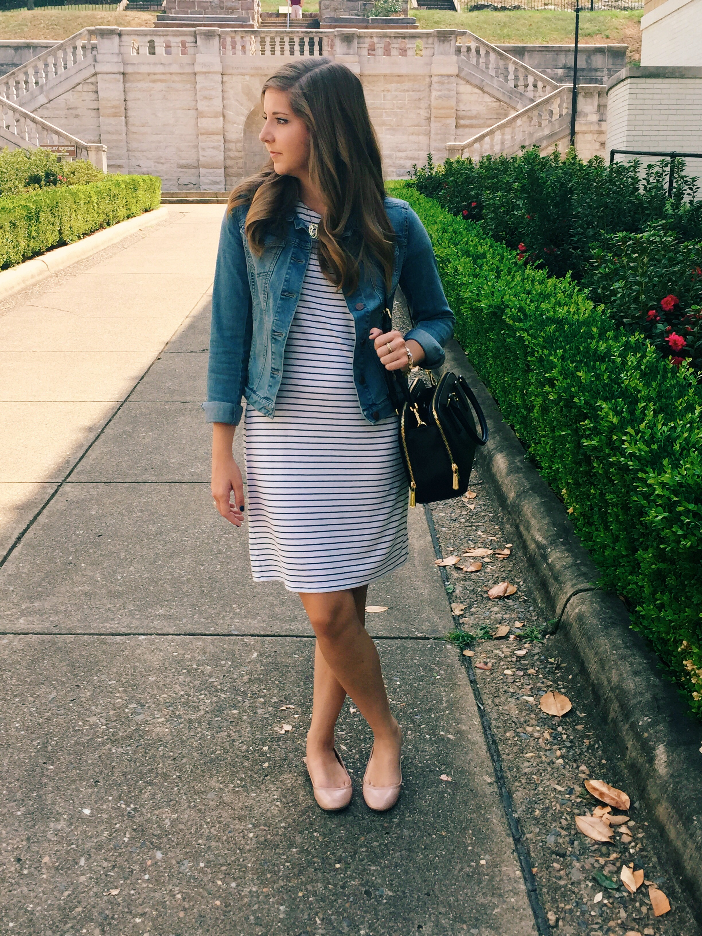 How To Style A Denim Jacket With A Dress