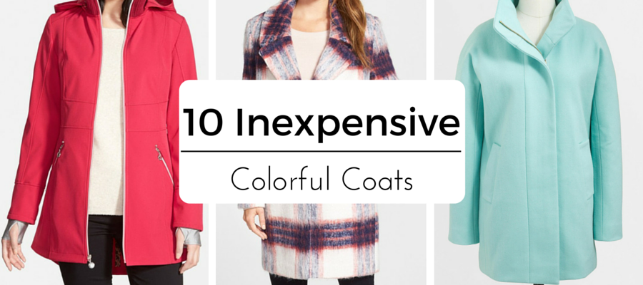 10 Inexpensive Colorful Coats