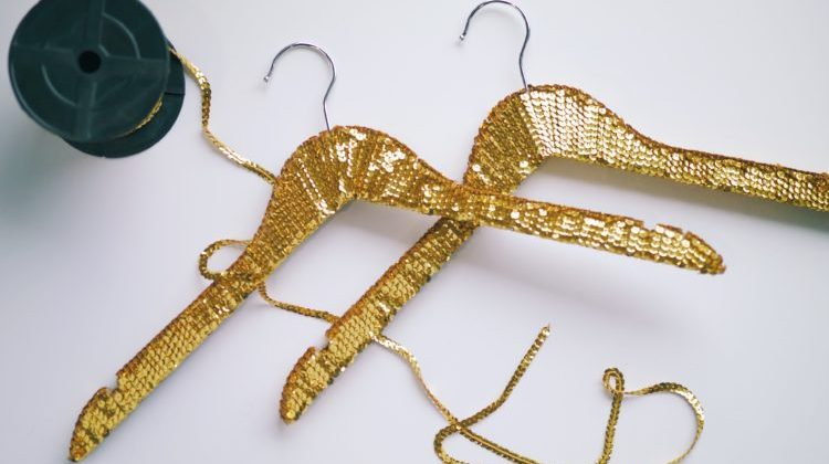 DIY Sequin Hangers