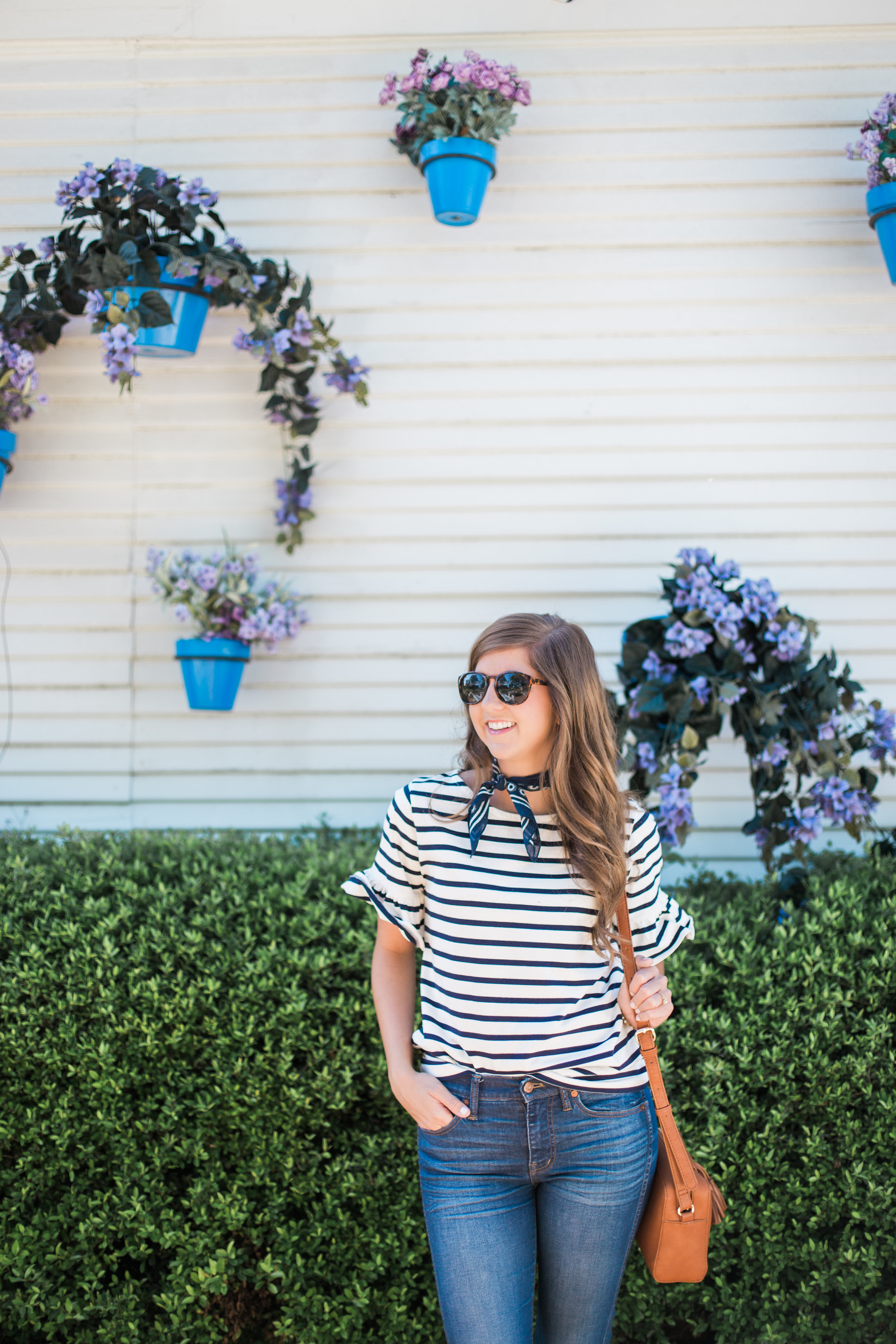Everyday Casual Style With A Basic Stripe Tee