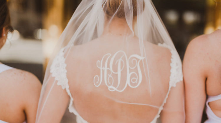 Monogram Wedding Veil