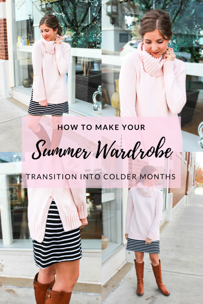 I have all of these cute summer dresses that I'm not ready to put away yet, but it's definitely too cold to wear them on their own. Here are some easy tips on making the most of your summer wardrobe in the colder months.