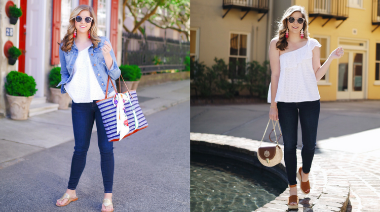 The Reagan Ruffle Top Styled 2 Ways