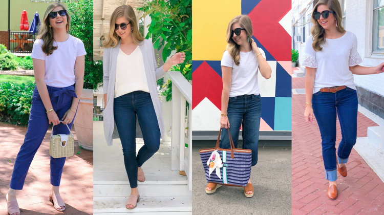 4 Ways To Style a White T-Shirt