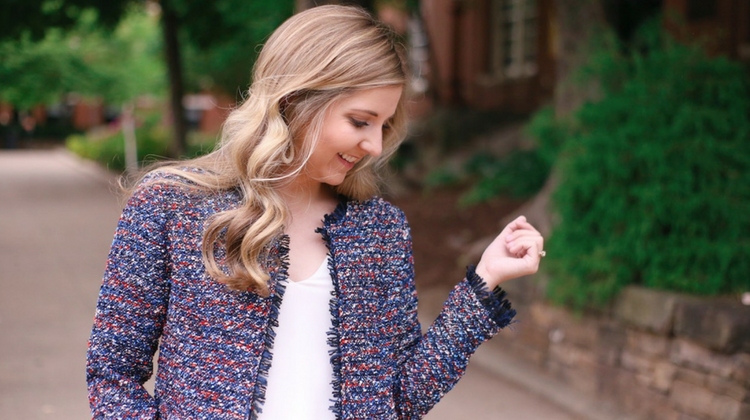 The Perfect Business Casual Tweed Blazer Outfit