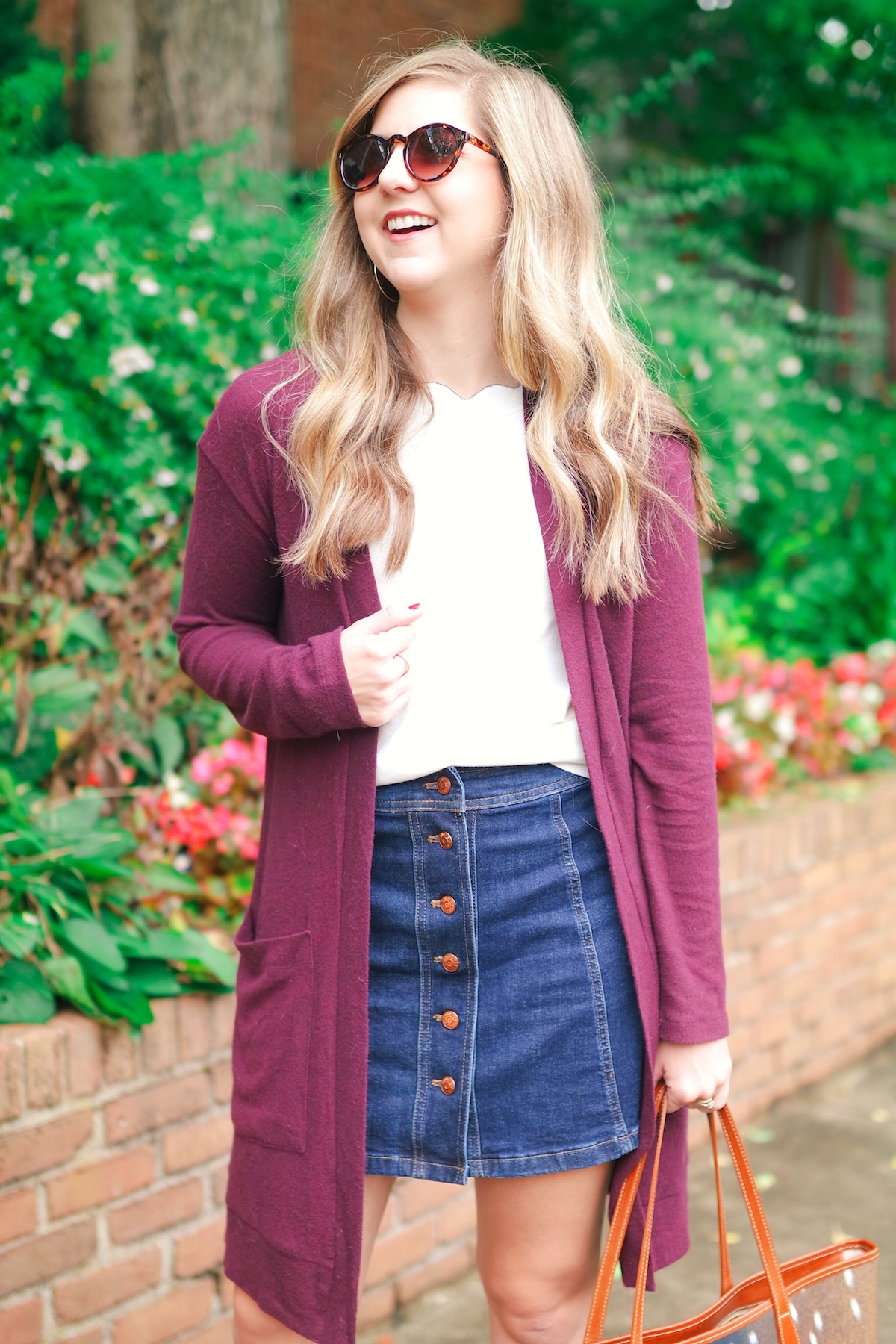 How To Style A Long Cardigan With A Mini Skirt