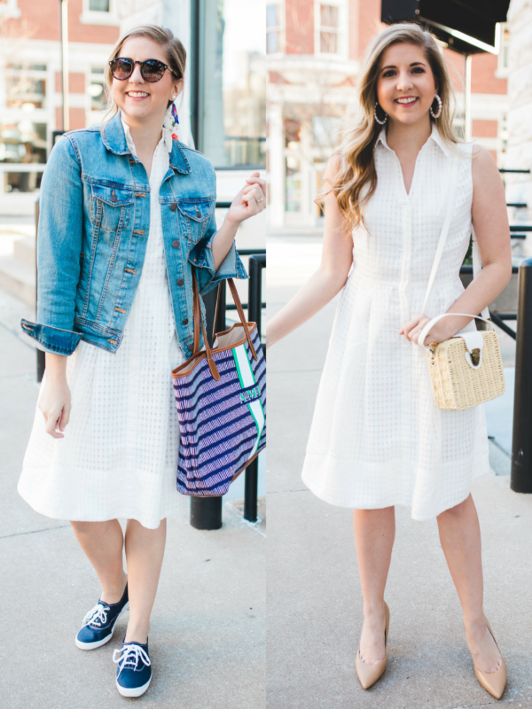 How To Style A White Eyelet Dress From Day To Night