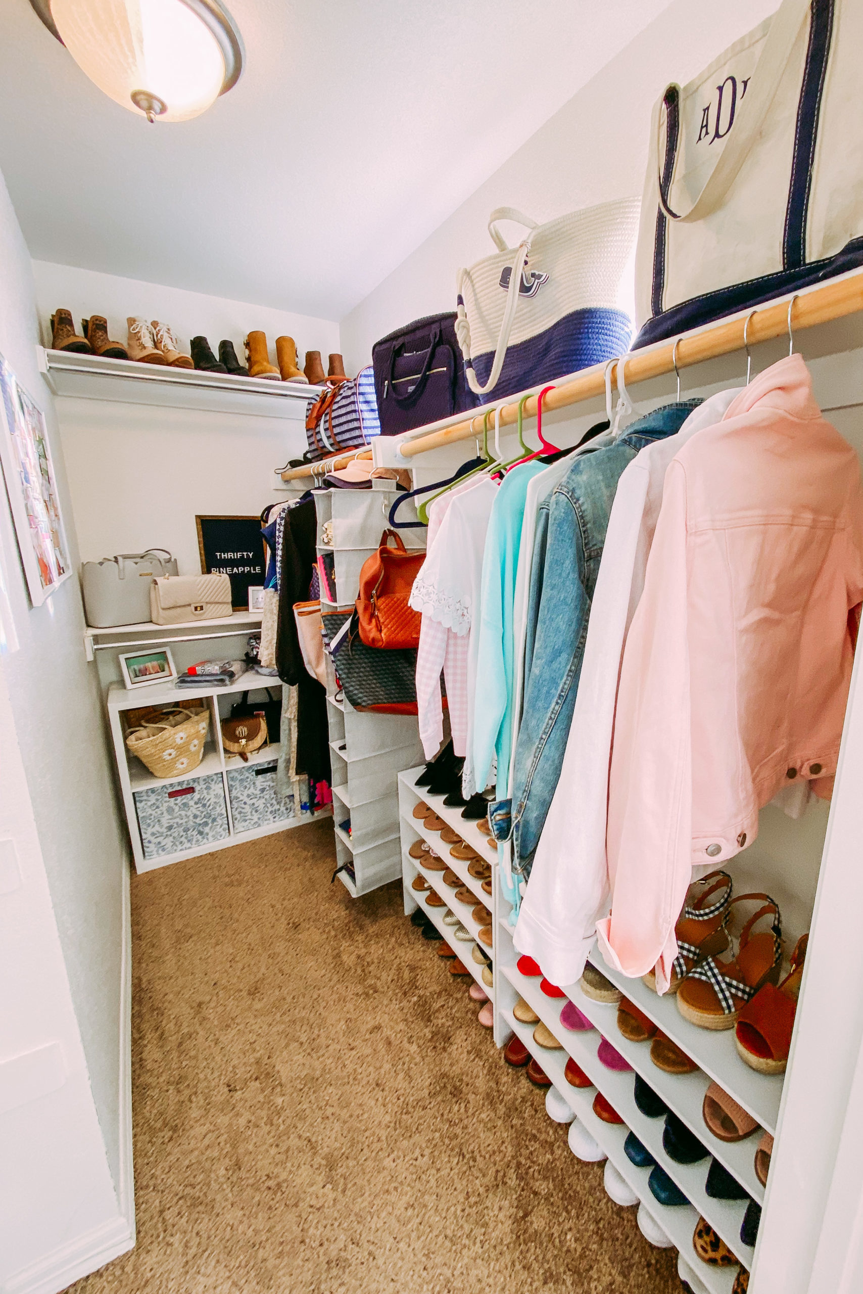 How I Organized My Office Closet