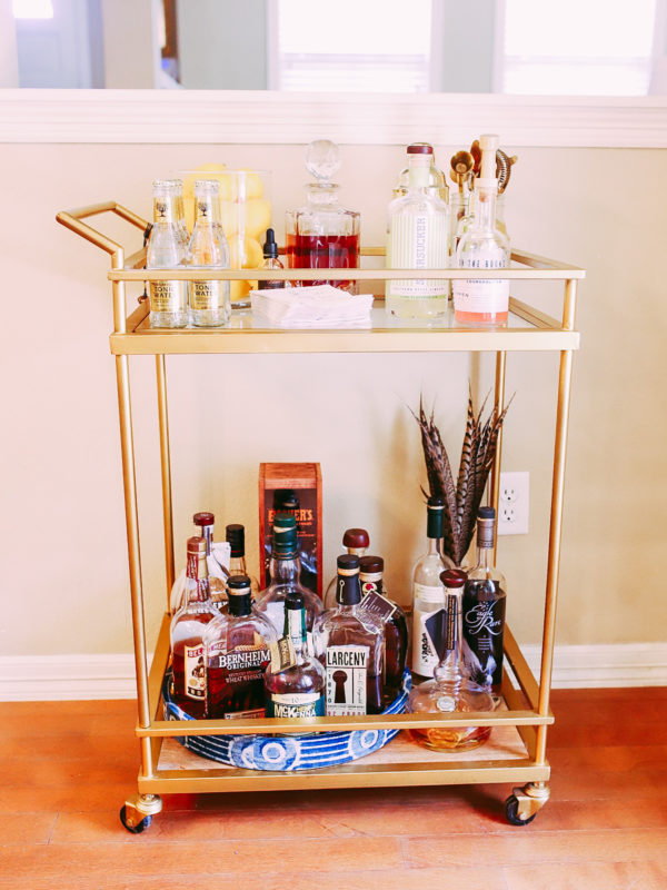 How To Style A Functional Bar Cart