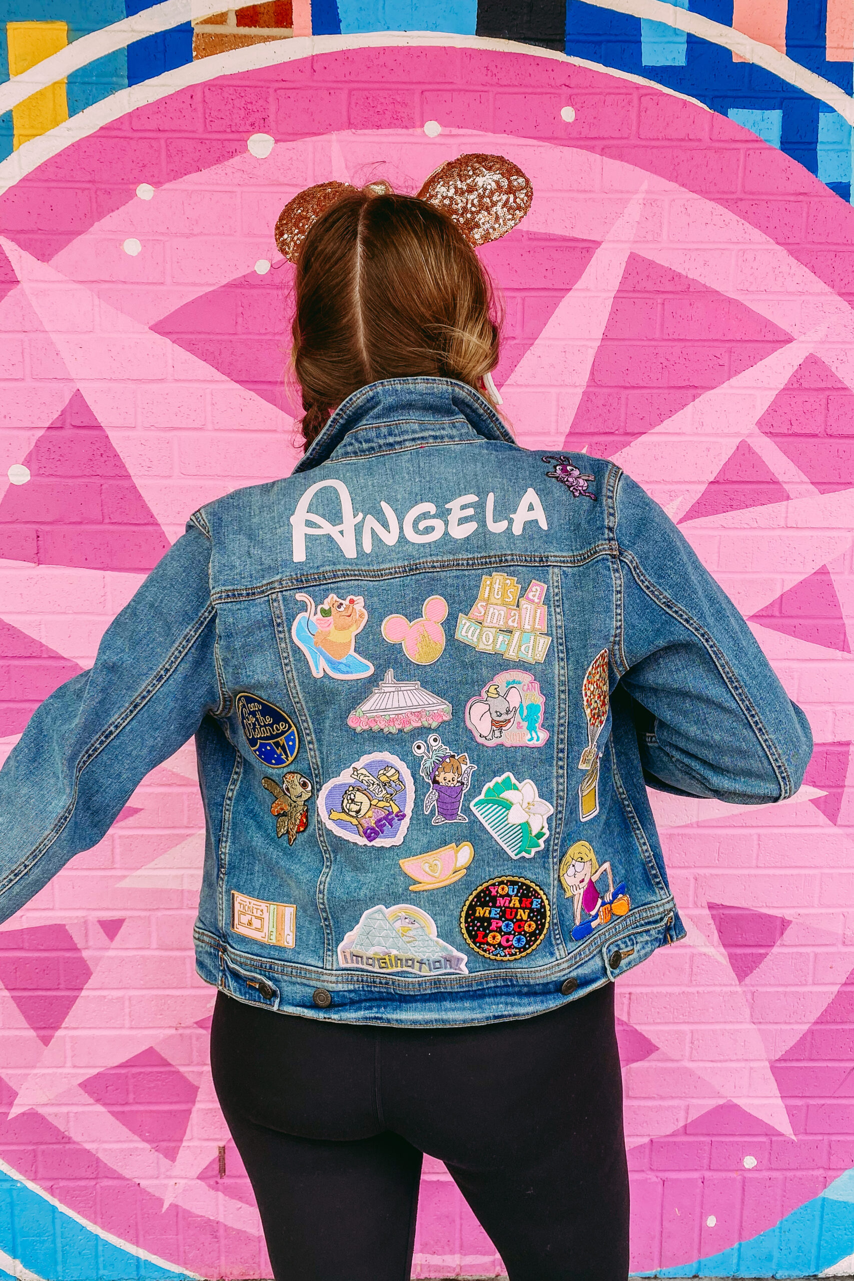 DIY Disney Patch Denim Jacket